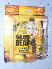 "Walking Dead AMC McFarlane 5"" Figure Series 1 Short Card Deputy Rick Grimes 2011"