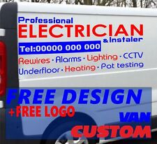 Electrician Van Sign Writing Vinyl Graphics Lettering Stickers Weather Proof Art