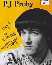 PJ Proby HAND SIGNED 8x10 Photo Autograph, Maria, Somewhere, Hold Me (D)
