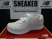 New Balance Womens -  WW577VW - White - Hook and Loop Walking Sneakers - New !