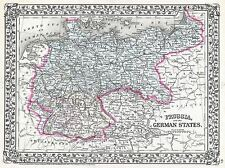 1872 MITCHELL MAP PRUSSIA, GERMANY VINTAGE POSTER ART PRINT 2958PY