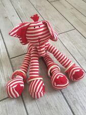Jelly Kitten Elly Skidaddle elephant red white stripe comforter soft toy plush