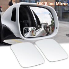 2 x Universal Adjustable Car RV Blind Spot Mirror Glass Exterior Rear Side View