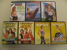 Lot of 7 Pilates Workout DVDs Get in Shape DVDs Exercise Voigt Biggest Loser