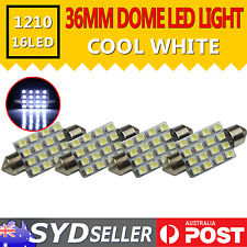 4PCS DC 12V LED CAR 36MM FESTOON INTERIOR WHITE LIGHT 3528 SMD AUTO DOME GLOBE