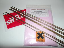 25x sifbronze no1 brazing rods 1.6mm 333mm long + free flux  ,