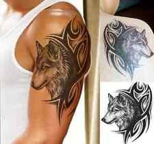 Large Wolf Head Waterproof Temporary Removable Tattoo Body Arm Leg Art Sticker