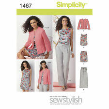 SIMPLICITY 1466 MISSES' & MISS PETITE TOP JACKET PANTS & SKIRT K5 8-10-12-14-16