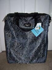 $120~NWT~KATHY VAN ZEELAND Black Tiger 20 Inch Wheeled Shopper/ Carry-On BAG~NEW