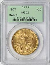 1907 Gold Saint Gaudens $20 Double Eagle PCGS MS62