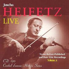 Jascha Heifetz: RARE live recordings, volume 4/CD (NUOVO, CONFEZIONE ORIGINALE)