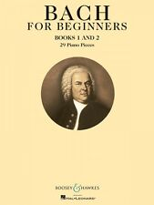 Bach for Beginners Books 1 and 2 - BH Piano Book NEW 048021006