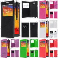 Housse etui coque pochette plastique View Case Samsung Galaxy Note 3 Neo N7505
