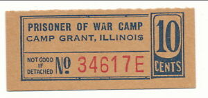 USA WWII POW Camp Chit IL-3-1-10 Camp Grant IL Cent Prisoner of War