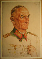 German WH General Witzleben postcard Willrich 1941 Wehrmacht tedesca top