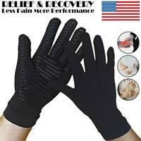 COPPER Arthritis Compression Gloves Medical Rheumatoid Carpal Tunnel Hand Brace