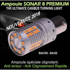 1 AMPOULE LED ORANGE SONAR 8 CNJY BAU15S Py21W CANBUS 100% POUR CLIGNOTANT