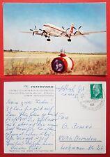 DDR Reklame AK INTERFLUG 1965 Flugzeug IL 18    ( 24919