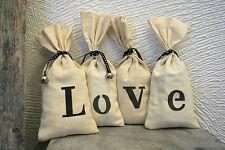 4 Lavendelsäckchen vintage shabby chic Love Deko landhaus cottage Geschenk
