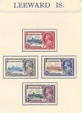 LEEWARD ISLANDS # 96-99 MLH KING GEORGE V SILVER JUBILEE OF CORONATION