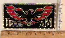 Vintage 1970s Pontiac Firebird Logo Decal Bumper Sticker Prism Prismatic
