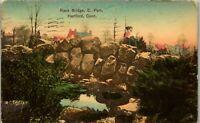 Hartford CT Rock Bridge East Park 1909 Vintage Postcard BB1