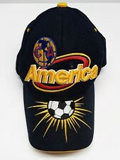 Aguilas del America Hat Cap Embroidered Black Yellow Blue Red White One Size Fit