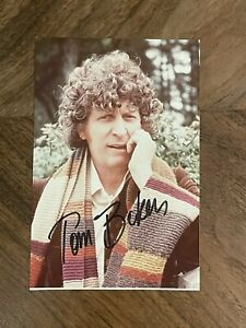 Doctor Who Tom Baker Autographed Photo