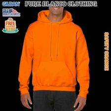 Sale Gildan Safety Orange Adult Pullover Hoodie Plain Hoodie Blank Hoodie