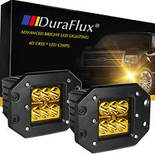 DuraFlux 4D Optic CREE LED Pod Lights for Truck Off-Road ATV Dually Flush Mount