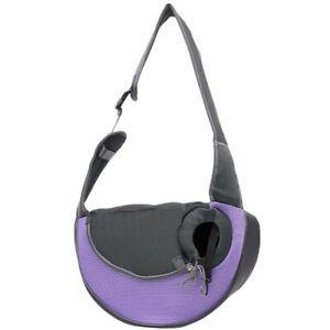 Lila Hundetragetasche Katzentasche Transporttasche Umhängetasche Hündchen Außen
