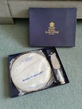 Royal Worcester Viceroy Gold Serving Cake Plate and knife. Boxed