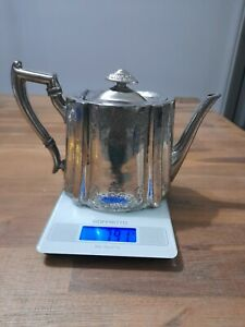 Antique Atkin Brothers Teapot. Silver. Sheffield. Hallmarked. 790 Grams.