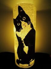 Black and White Cat Lantern No.354, nursery night light, cat lover gifts