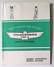 Tyngsboro MA THUNDERBIRD Par 3 Golf Course SCORECARD Mungeam Cornish Golf Design