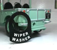 Classic Kit Car Cobra Lorry Metal Switch Tab Tag Badge Decal Label Wiper Washer