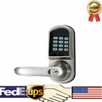 Electronic Keyless Smart Door Lock Keypad Touch Password Entry Security Digital