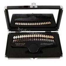 Dental Teeth Whitening Shade Guide compare Tooth Bleaching 20 Shades Mirror Case