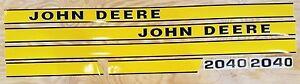 John Deere 2040 Hood Decal Set