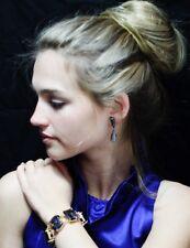 Kate Spade NY COATED SETTING Crystal Kaleidoscope Jumbo LINK Bracelet BLUE GEMS