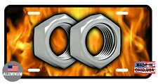 LICENSE PLATE HOT NUTS DURABLE ALUMINUM HIGH QUALITY FULL COLOR GLOSSY LP#0092