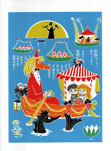 Moomin Poster Toffle and Miffle Tove Jansson 24 x 30 cm