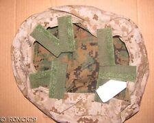 "NWT USMC Helmet Cover Reversible Woodland & Desert Digital SM/X-SM ""REAL DEAL"""