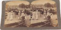.ENGLAND 1902, HENLEY REGATTA, UNDERWOOD & UNDERWOOD STEREOVIEW CARD.