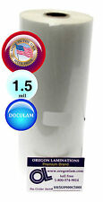 "Doculam Hot Laminating Film 9"" x 500' on 1"" core 1.5 Mil Made in USA [1 Roll]"