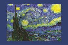 Art Poster Nuit ETOILEE a Saint-remy Starry Night Vincent Van Gogh