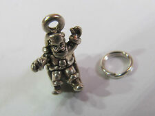 SANTA IN SLEIGH STERLING SILVER CHARM - NEW (LAST ONES!!)