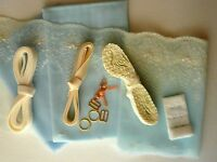 Baby Blue Lace Bra Making Kit. Inc Fabric and Notions. Small