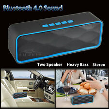 Blue Mini Portable USB Bluetooth Wireless Speaker For iPhone Tablet Samsung PC