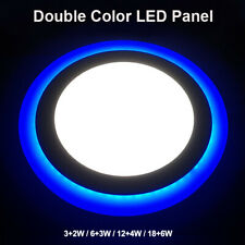 Dual Color Round LED Ceiling Light Recessed Panel Downlight Porch Spot Lamp 1 Pc